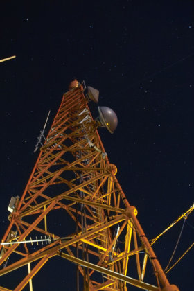 Channel 13 tower with 70cm antenna